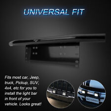 """MICTUNING 23"""" Universal License Plate Mounting Bracket w/ Front Bull Bar Bumper"""