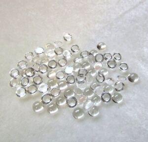 10pcs Naturel Cristal Quartz 5mm Rond Cabochon Desseré Pierre Précieuse Blanc
