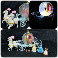 Disney Parks Cinderella Horse & Carriage Light Up Play Set Outfit Changing