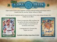 2020 Topps Gypsy Queen Extended Base Short Print 301-320 *YOU PICK* Gwynn Sosa +