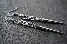 Long Spike with Metal 8 Connectors Earrings Goth Steampunk