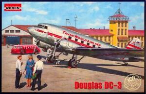 Roden Models 1/144 DOUGLAS DC-3 TWA Airliner