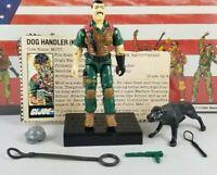 Original 1984 GI JOE MUTT & Junkyard  V1 UNBROKEN ARAH not COMPLETE figure Cobra