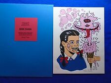 RARE!~ MIKE DIANA ~ PINK BUBBLE GUM ICE CREAM GHOST SCREEN PRINT #77/88~SIGNED!