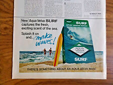 1970 Aqua Velva After Shave Lotion Ad  New Surf  Makes Waves