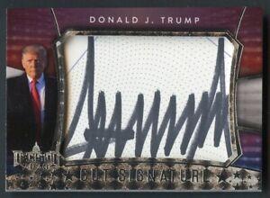 2020 Decision Cut Signature Silver Foil Donald J. Trump AUTO RARE VERSION