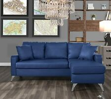 Divano Roma Furniture Bonded Leather Sectional Sofa - Small Space...