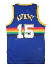 Denver Nuggets Carmelo Anthony #15 Blue Classic Swingman Jersey