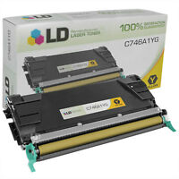LD Remanufactured Lexmark C746A1YG Yellow Toner for C746/C748 Printer Series