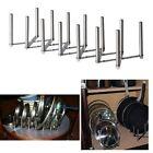 Pot Pan Lid Organizer Rack Adjustable Length Stainless Steel Kitchen Storage