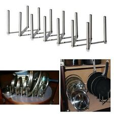 New Pot Pan Lid Organizer Adjustable Rack Stainless Steel Kitchen Storage Holder