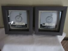 Lot of 2 Shadow Box -Glass Enclosed Picture Frames-Craft  Create Wall/Sit Decor