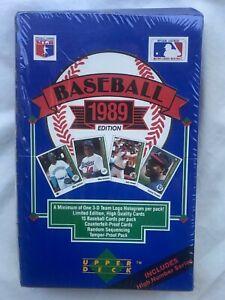 Upper Deck 1989 Baseball Wax Box 36 Packs