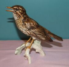 Goebel Porcelain Bird Figurine - Song Thrush CV115