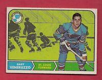1968-69 TOPPS # 119 BLUES GARY VENERUZZO ROOKIE  EX-MT CARD