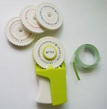 Embossing Label Maker 4 Wheel (English, Number, Emoticon, Hangul) Green + 1 Tape