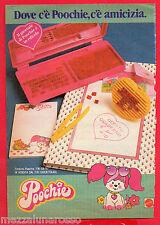 Pubblicità Advertising MATTEL 1985 Poochie Quaderno e timbrini