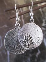 Sterling Silver Plated Tree of Life Handcrafted Earrings on .925 Wires-Goddess