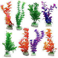 10 Pack Aquarium Fish Tank Plastic Plants for Decoration MULTIPLE STYLES COLOURS