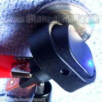 INTERRUTTORE A BILANCIERE con LED BLU 12V 30A DC  [ switch camper auto moto ]