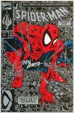 SPIDER-MAN #1 SILVER VARIANT DYNAMIC FORCES SIGNED JOHN ROMITA SR MARVEL 1990