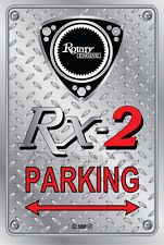 Metal Parking Sign  Rotary Mazda Style RX-2#01 - Checkerplate Look