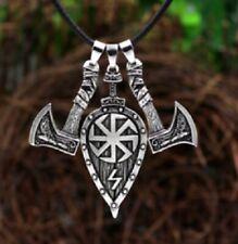 Celtic Shield Pendant Axe Viking Necklace Pagan Ladies Mens Pagan Norse