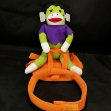 Pet Costume Frankenstein Sock Monkey Riding Saddle Small Soft Collar Halloween