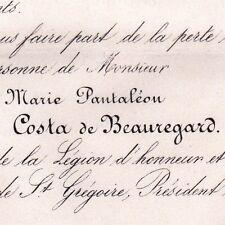 Pantaléon Costa De Beauregard Savoie Ornithologue 1864