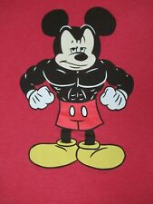 Nwot Disney Parks Bodybuilding Mickey Maus Muskeln Rot 2XL T-Shirt D1515