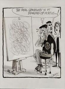 "Original Cartoon Artwork By Geoffrey Hook ""The Real Creativity Is I Title…!"""