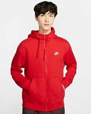 Nike Sportswear Fleece Hoodie Jacket Full Zip Red NSW BV2645-657  Men's M Medium