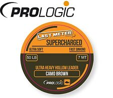 (2,14€/1m) Prologic Supercharged Hollow Leader 7m 50lbs Camo Brown Schnur