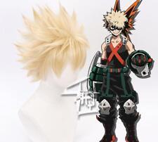 Mi héroe Academia bakugo Katsuki Cosplay Peluca Para Hombre De Oro Corta Rubia Corta Hh