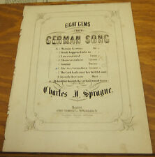 1860 Sheet Music//THE TWO GRENADIERS, by R. Schuman