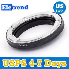 US Nikon F Mount Lens to Olympus Four Thirds OM43 E-5 E-7 E420 E620 E520
