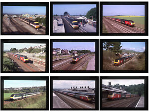 18 Original railway colour slides -  HST's  variety liveries - 1989- 2003