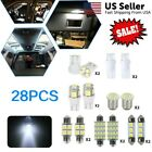28* White LED Interior Package Kit For T10 31 36mm Map Dome License Plate Lights Alfa Romeo 156