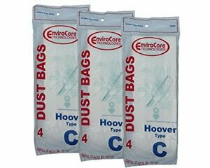 12 Hoover C Bags for Convertible Bottom Fill Convertible Lightweight OS 43651-05