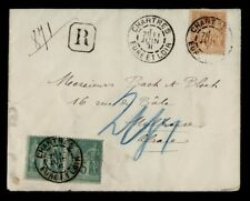 DR WHO 1891 FRANCE CHARTRES REGISTERED TO MULHOUSE PAIR  g41127