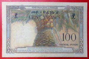 French Somaliland Djibouti 100 Francs Bank Note 1952