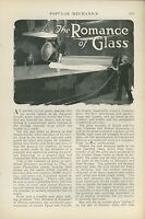 1925 Magazine Article Glass Making in United States Industry Windows Plate
