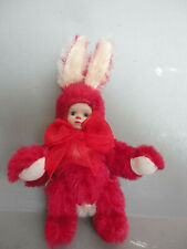 Marie Osmond Cranbunny Bit O'Bunny cranberrry color bunny in box