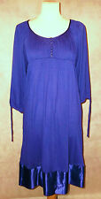 NEW bluebell blue WHISTLES silk trim draped dress 4 14