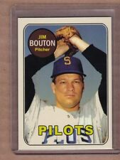 Jim Bouton Seattle Pilots custom card by Bob Lemke '69 style #688