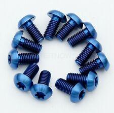 Blue Alloy Bottle Cage Bolts M5x15x20mm  2Pcs.