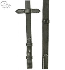 HKM Super Grip Reins Full,  Leather Web Rubber Black/ Brown FREE DELIVERY