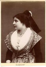 France, Arles, une Arlésienne, costume traditionnel  vintage albumen print, Ti