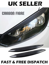 Headlight Eyebrow Eyelid Carbon Fibre Trim For VW Golf 7 GTI GTD R MK7 2013-2017