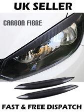 Headlight Eyebrow Eyelid Carbon Fibre Trim For VW Golf 7 GTI GTD R MK7 2013-2017